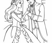 Coloring pages Barbie Princess in love