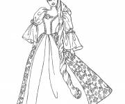 Coloring pages Barbie princess to print