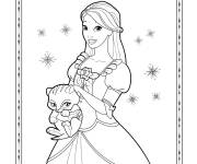 Coloring pages Easy Barbie Drawing