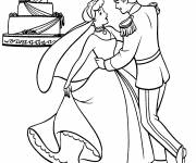 Coloring pages Cinderella and her prince