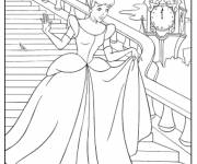Coloring pages Cinderella dropped her vair slipper