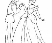 Coloring pages Prince Henry and Cinderella