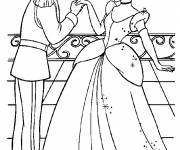 Coloring pages Prince Henry compliments Cinderella