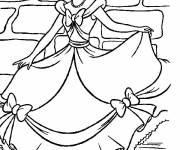 Coloring pages The beautiful Cinderella