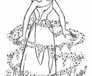 Coloring pages The Cinderella costume
