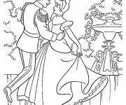 Coloring pages The dance of Prince Henri and Cinderella