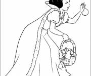 Coloring pages Frozen picks an apple