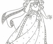 Coloring pages Snow white princess