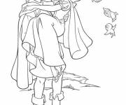 Coloring pages Snow White Princess in love