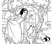 Coloring pages Snow White Princess online