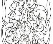 Coloring pages The white family