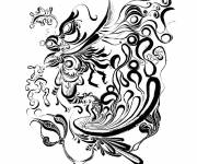 Coloring pages Black and white psychedelic