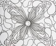 Coloring pages Easy psychedelic
