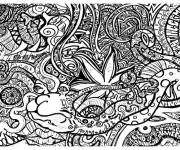 Coloring pages Psychedelic Difficult