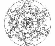 Coloring pages Psychedelic Flower Mandala