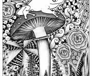 Coloring pages Psychedelic Frog