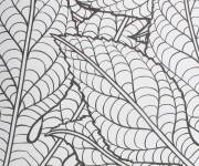Coloring pages Psychedelic Leaves