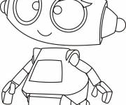 Coloring pages Cute robot