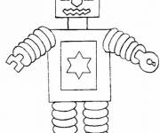 Coloring pages Easy robot