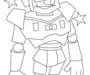 Coloring pages Magic funny robot