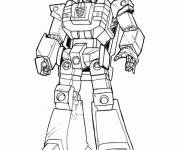 Coloring pages Robot fighter