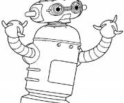 Coloring pages Robot Online