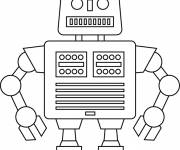 Coloring pages Robot simple