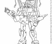 Coloring pages Robot Warrior