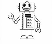 Coloring pages Stylized robot
