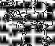 Coloring pages War robot equipped
