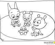Coloring pages Samsam and his friends
