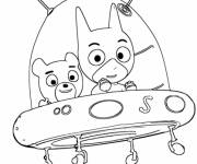 Coloring pages Samsam and Sam Teddy bears