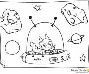 Coloring pages Samsam in The Universe