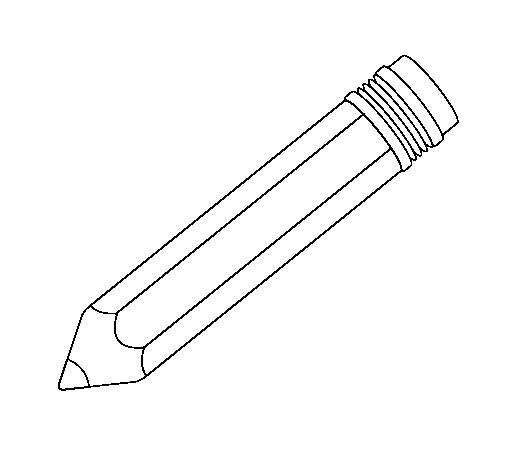 Free coloring and drawings A pencil to write Coloring page