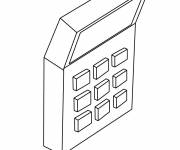 Free coloring and drawings A simple calculator Coloring page