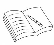 Free coloring and drawings An open book Coloring page