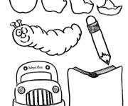 Coloring pages Humorous school material