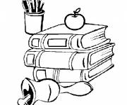 Free coloring and drawings School Books Coloring page