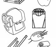 Coloring pages School supplies