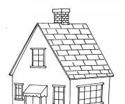 Coloring pages House in color