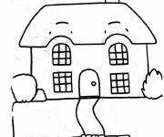 Free coloring and drawings Maternal Simple House Coloring page