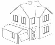 Coloring pages Modern House