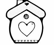 Free coloring and drawings Original Simple House Coloring page