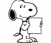 Coloring pages Easy snoopy