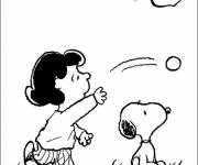 Coloring pages Snoopy and Lucy