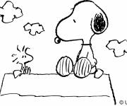 Coloring pages Snoopy and open air