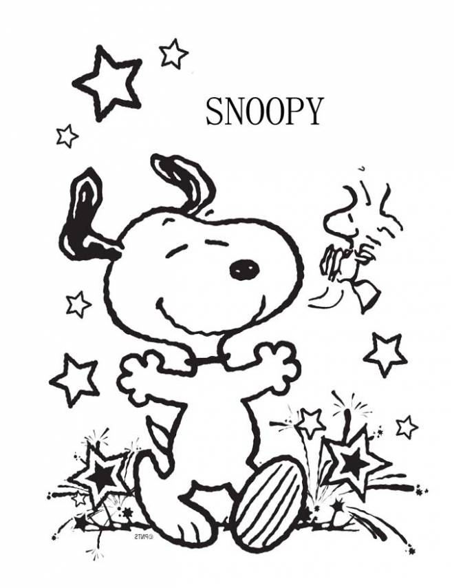 Free coloring and drawings Snoopy and The Yellow Bird Coloring page