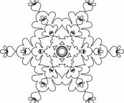 Coloring pages Artistic Snowflake