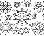Coloring pages Colored Snowflakes