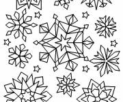 Coloring pages Crystallized Snowflakes